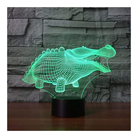 DONG Linda Alligator Night Light Illusion Lamp Lámpara de Mesa de ...