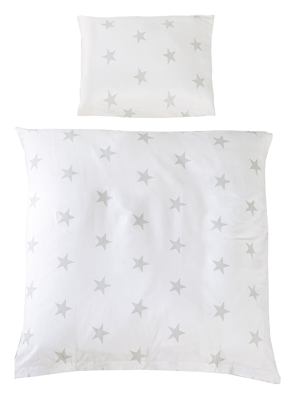 """Kollektion /""""Sternenzauber/"""" roba Wiegenset 2-tlg Wendebettw/äsche Wiegenbettw/äsche 80x80 cm Bettbezug: 80x80 /& Kissenbezug 40x35 cm 100/% Baumwolle"""