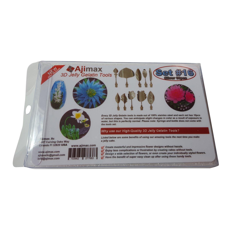 fed840c7ea374 Amazon.com  Gelatin Art Tools - 3D Jelly Cake Tools Gelatin Flower Needles  (Size 16-10pcs)  Kitchen   Dining