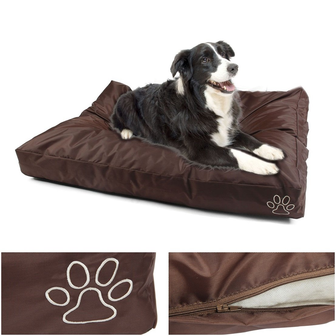 1Pcs Transcendental Popular Pet Bed Cover Size XL 48'' x 29'' Soft Zipper Cat Pillow Color Type Brown Oxford