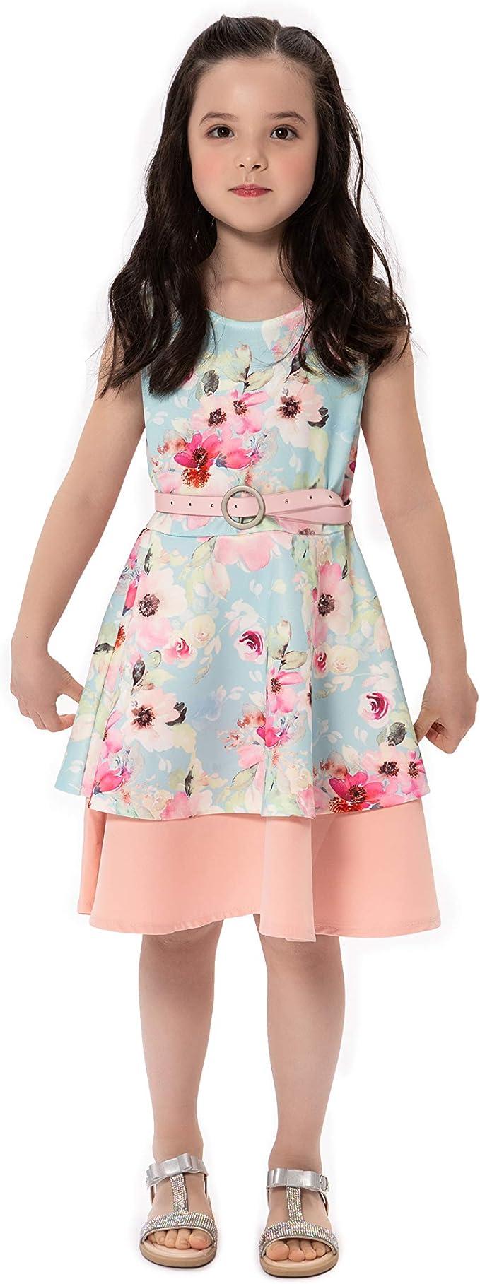 AM/_ CUTE BABY GIRL SUMMER SLEEVELESS LOOSE LACE FLOWER BACK DRESS SUNDRESS NICE