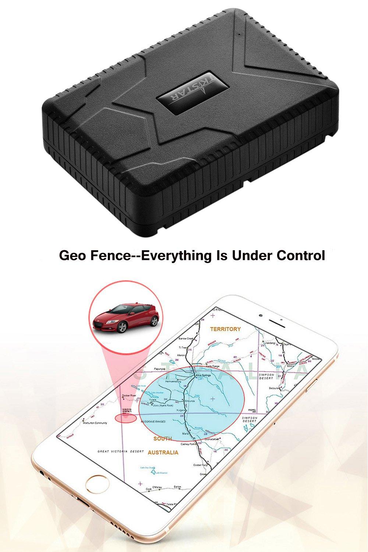 Tkstar GPS Car tracker-strong magnete 10000/mAh grande batteria veicolo//Moto//auto nascosta Spy Tracking antifurto allarme GSM GPRS GPS Car Tracker con sensore anti-light personale impermeabile