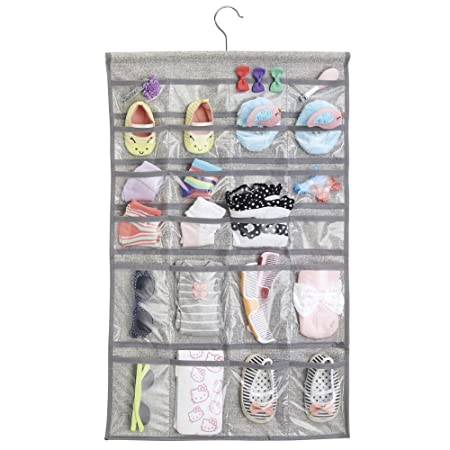 InterDesign Aldo Fabric Hanging Fashion Jewelry Organizer for Rings