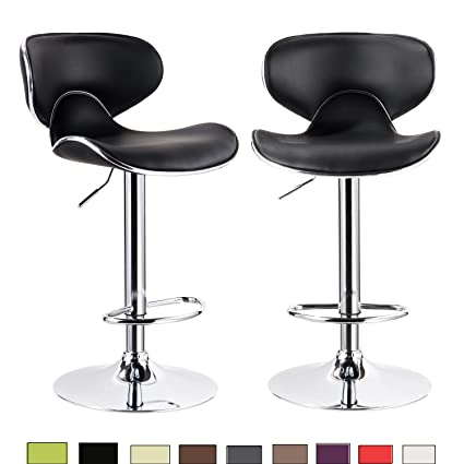 Amazoncom Woltu 2blk C Set Of 2 Contemporary Bar Stools Counter