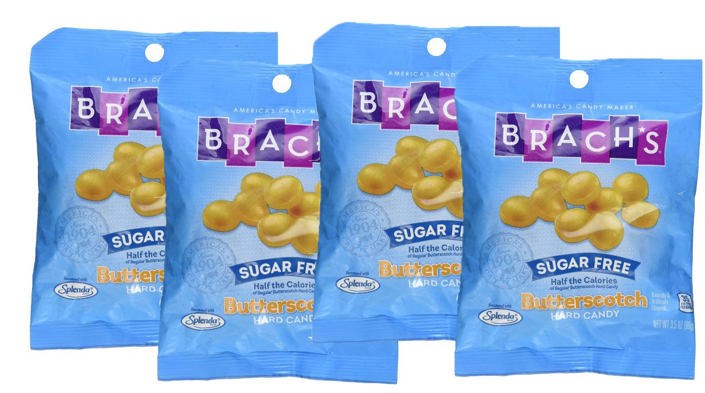 SweetGourmet Brach's Sugar Free Butterscotch Hard Candies 3.5 oz (Pack of 4) by SweetGourmet