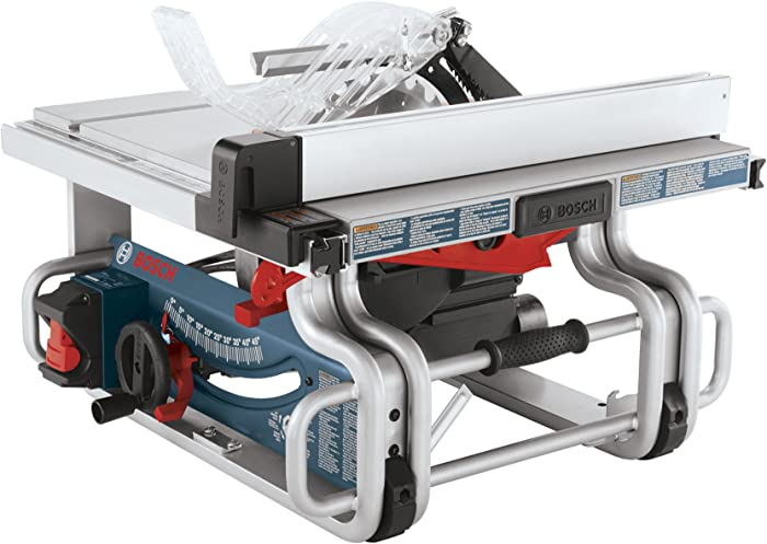 Bosch 10-Inch Portable Jobsite Table Saw GTS1031 with One-Handed Carry Handle