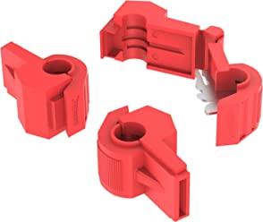 AUPROTEC 100x Female Spade Connectors 0.5-1.5 mm² AWG 22-16 red 6.3 mm FDD flat PVC semi-insulated Electrical Crimp Connector tinned brass Terminals Receptacles Wiring & Connecting