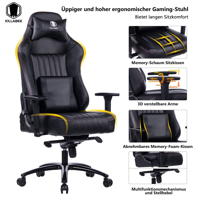 Gaming Foam Stuhl Großer Verstellbarer Killabee Memory 3LRq45Aj