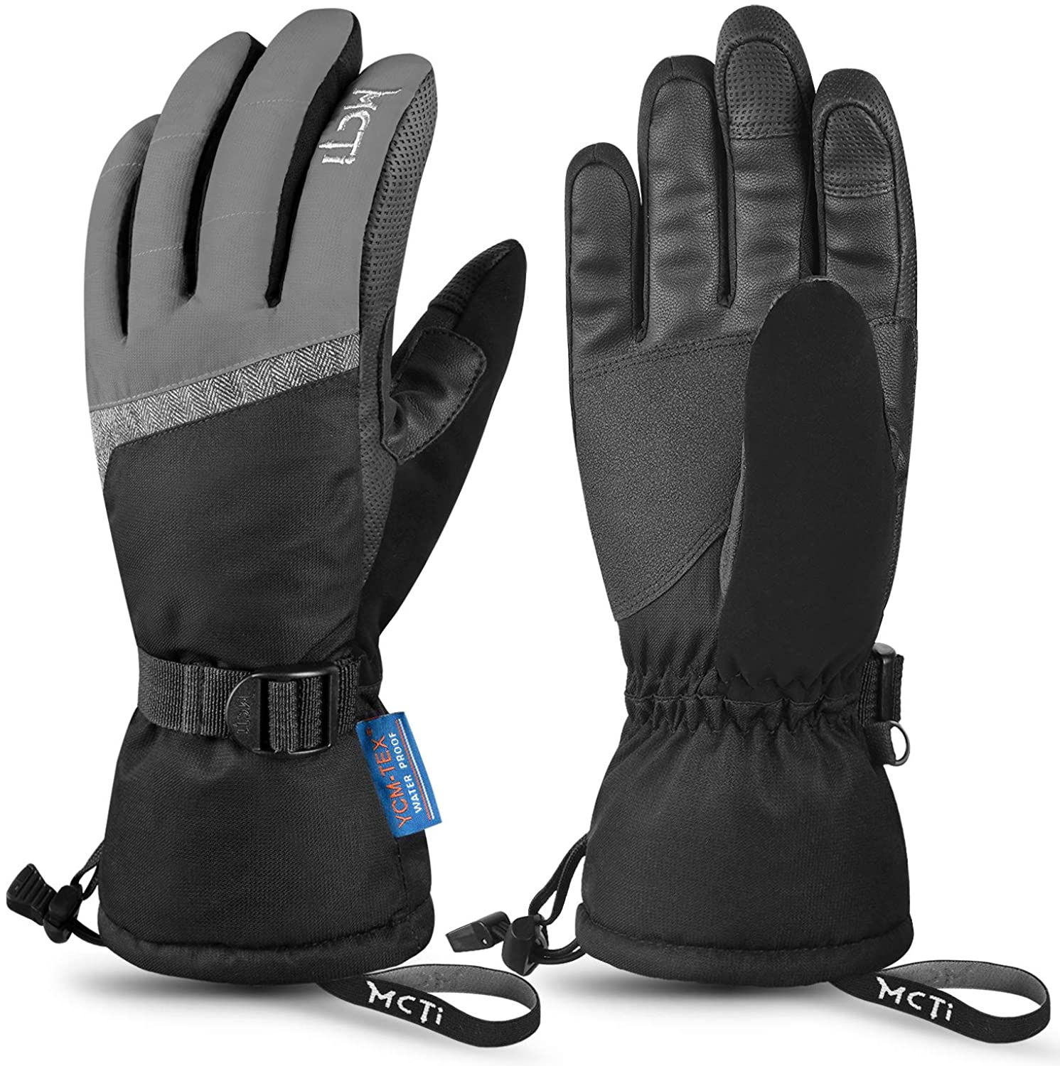 30℃ Winter Ski Gloves Thermal Snowboard Snow Skiing Touchscreen Mens Womens