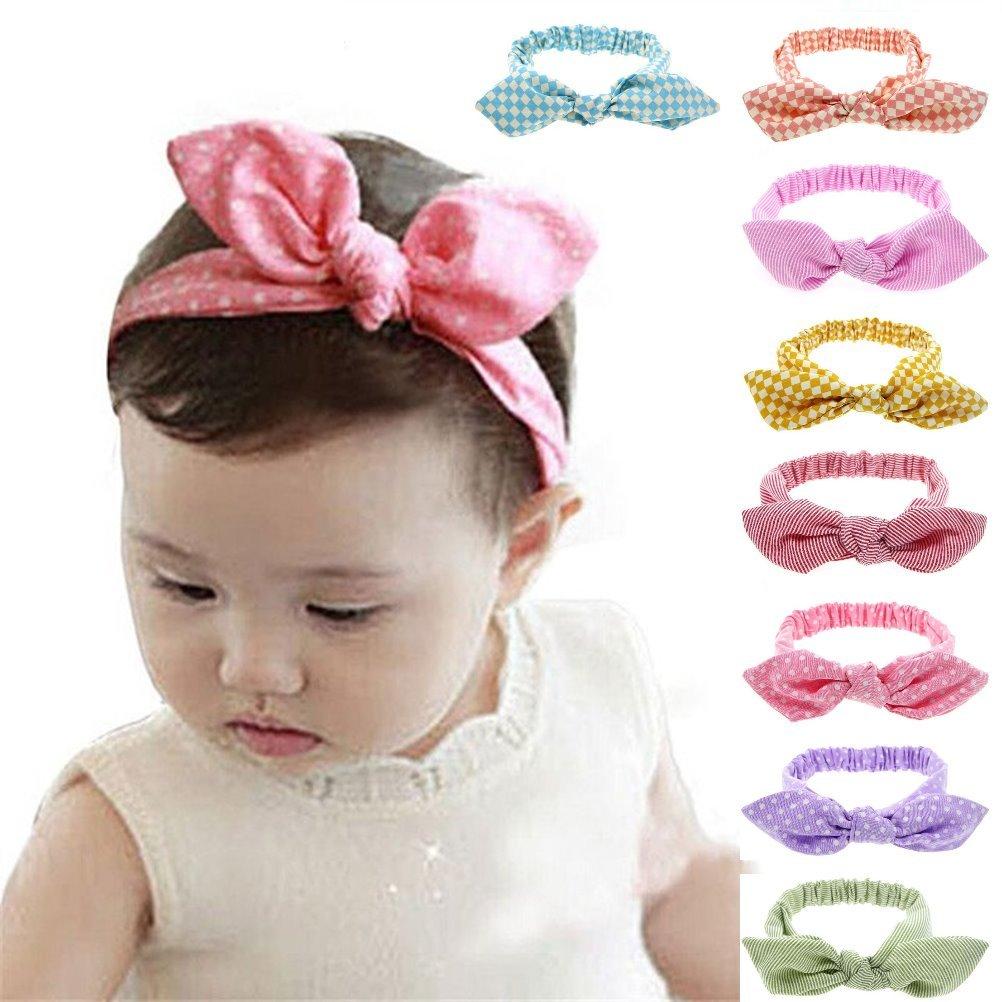Stirnband Blüte Schleife Haarband Baby Mädchen Schmuck Kopfband Rosa