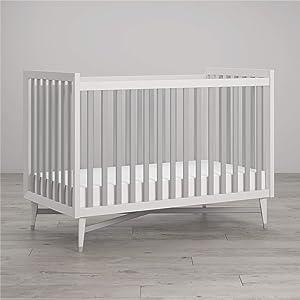 Little Seeds Monarch Hill Hadley Convertible Crib, White/Gray