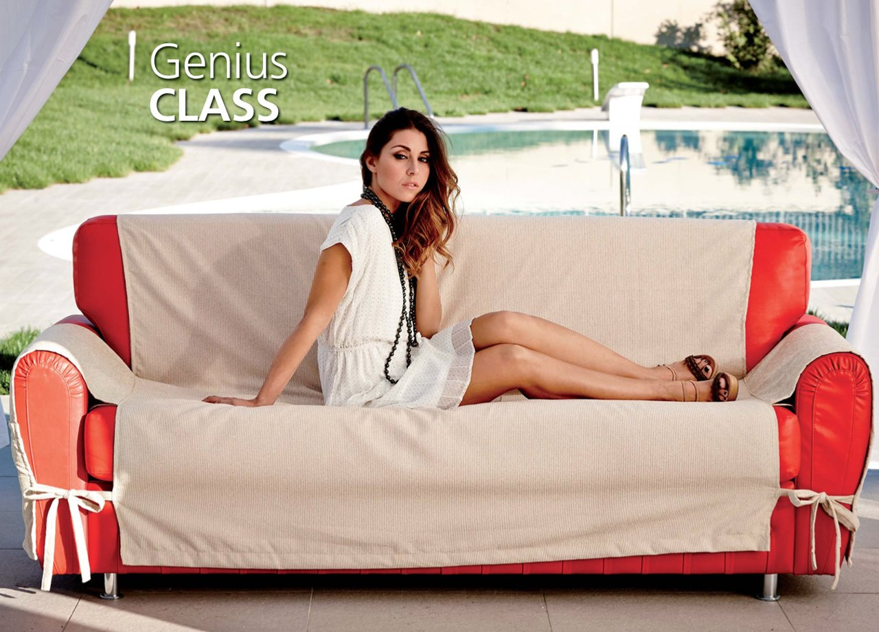 BIANCHERIAWEB Copridivano Genius Class Talian 2 Posti Cardinale 40