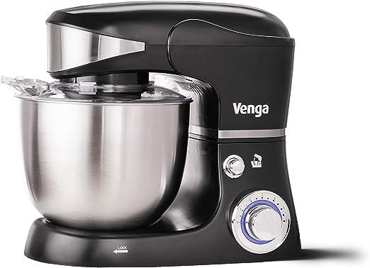 Venga! VG M 3014 - Procesador de alimentos y robot de cocina con bol de plástico y acero inoxidable con motor de 1000 W, 5 L (negro): Amazon.es: Hogar