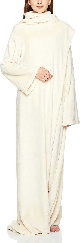 150X180cm Basics Couverture polaire avec manches et poche pour les pieds Marron