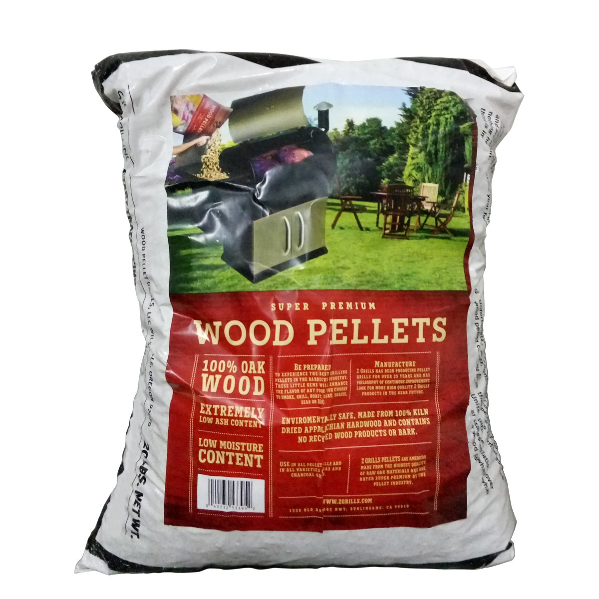 Z GRILLS Premium BBQ Wood Pellets for Grilling Smoking Cooking Oak Hardwood Pellets,20LB Per Bag Made in USA(1) by Z GRILLS