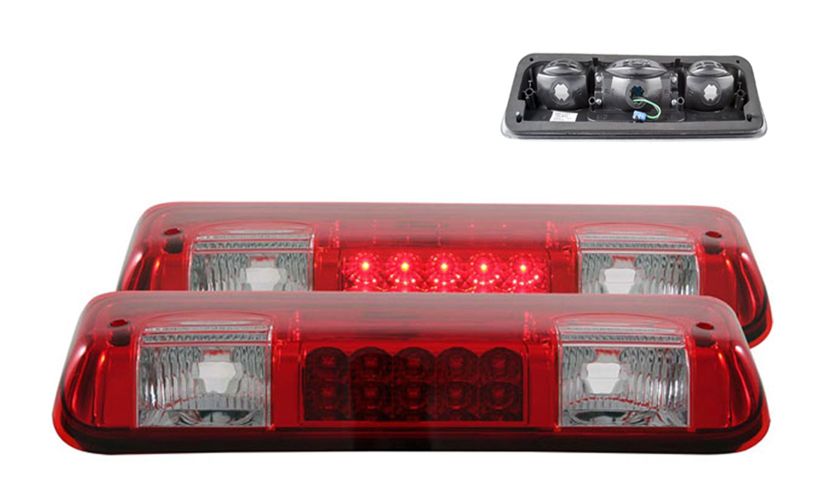 Best Rated In Automotive Brake Tail Light Assemblies Helpful Led Wiring Diagram Additionally Toyota Ta A Sppc Red Clear 3rd Lights For Ford F 150 Cargo