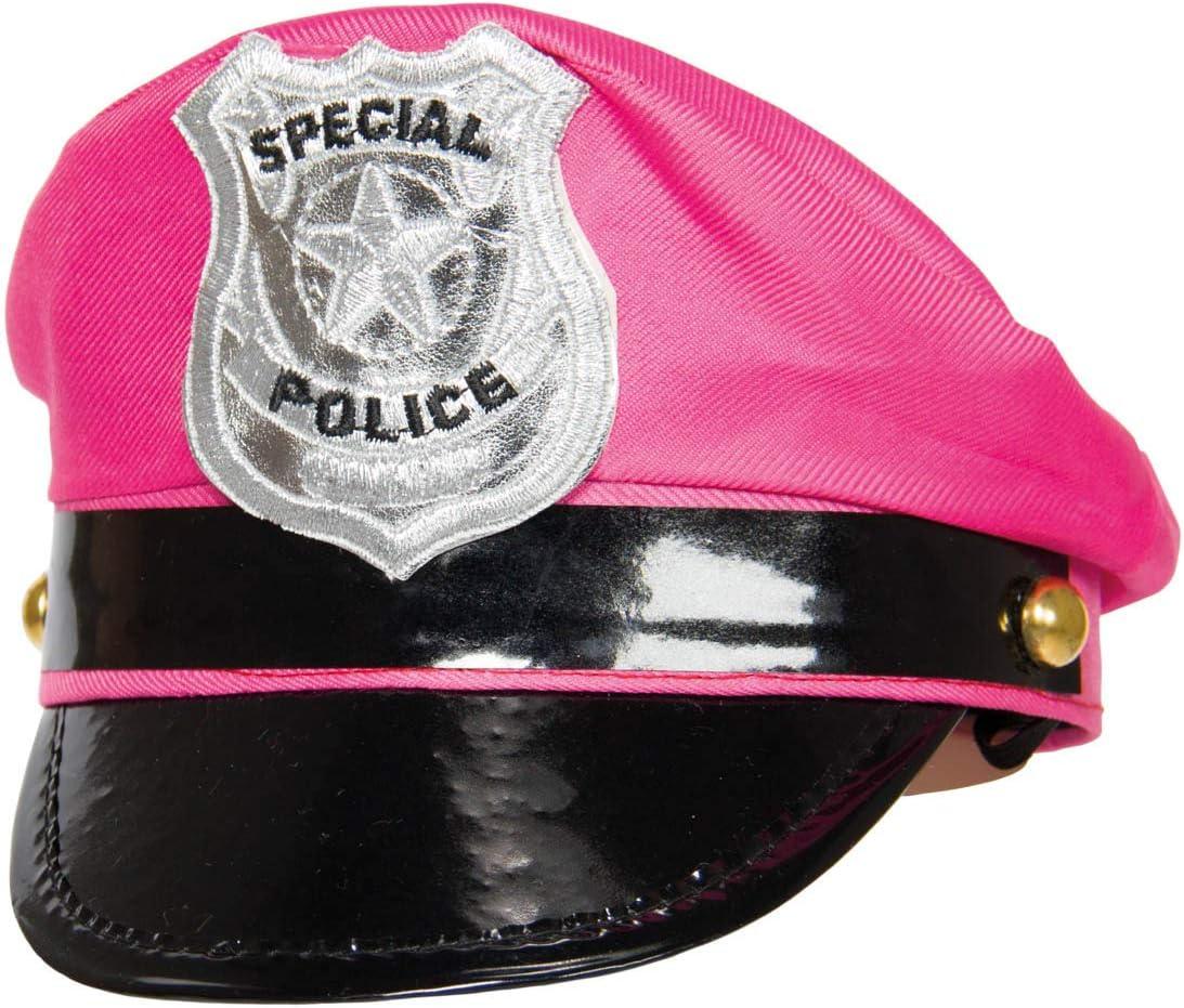 Folat Gorra con Escudo Tiara de policía (Talla única), Color Rosa ...