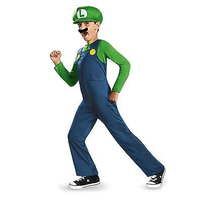 Nintendo Super Mario Brothers Luigi Classic Boys Costume, Small/4-6: Toys & Games