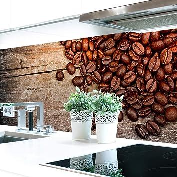 Amazon De Kuchenruckwand Kaffee Bohnen Premium Hart Pvc 0 4 Mm