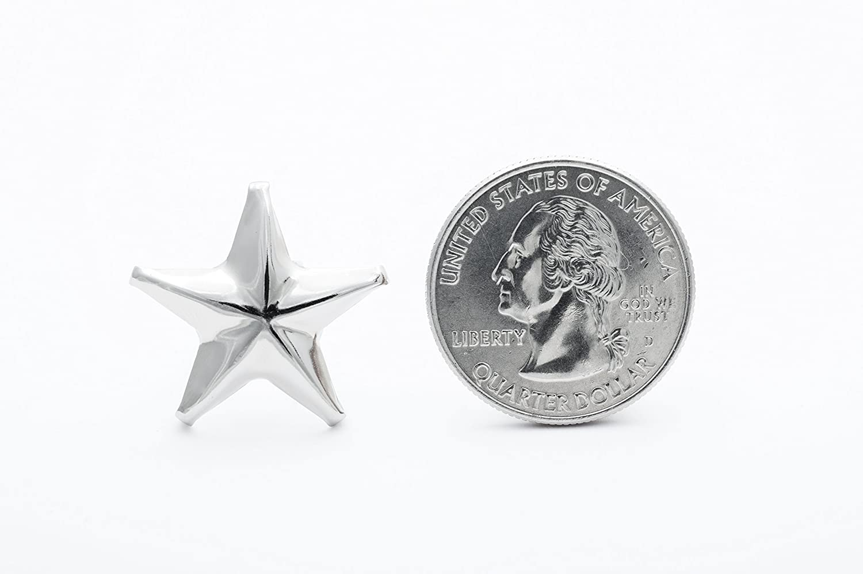 Silver Star Studs 24mm Medium 1 Pack of 100