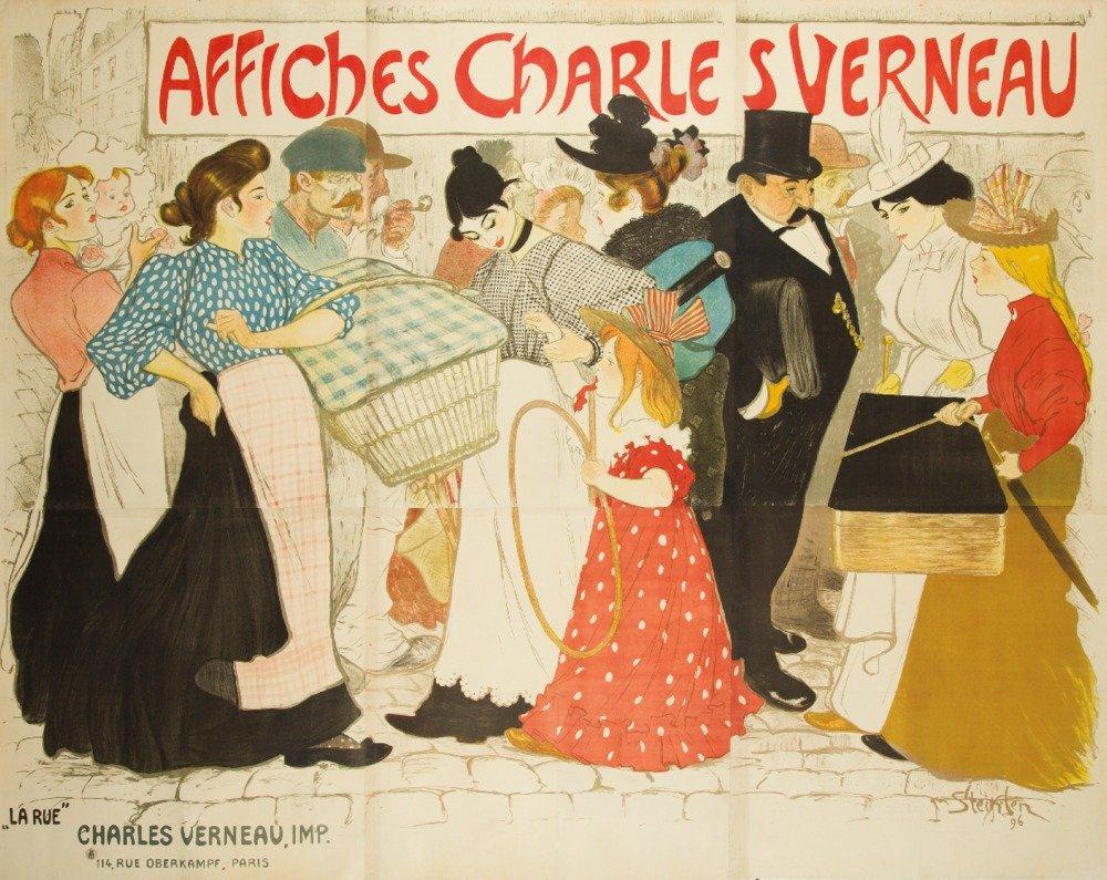 Affiches Charles Verneau – La rueposter (アーティスト: Steinlen , Theophile Alexandre )フランスC。1896 24 x 36 Giclee Print LANT-61490-24x36 B017ZKE1M0  24 x 36 Giclee Print