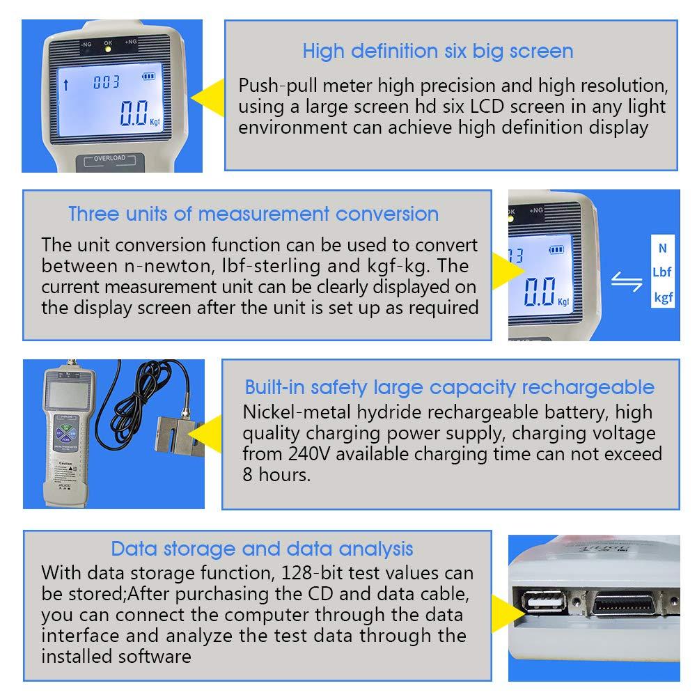 Digital Display Force Gauge 0 1N High Precision Dynamometer