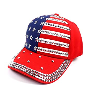 790bb10645a Image Unavailable. Image not available for. Color  Hemlock Hats Star Flag  Caps ...
