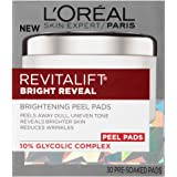 L'Oréal Paris Revitalift Bright Reveal Peel Pads, 30 count