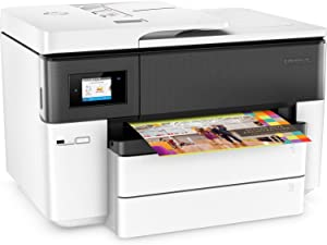 HP OfficeJet Pro 7740 Wide Format All-in-One Printer with Wireless & Mobile Printing (G5J38A) (Renewed)