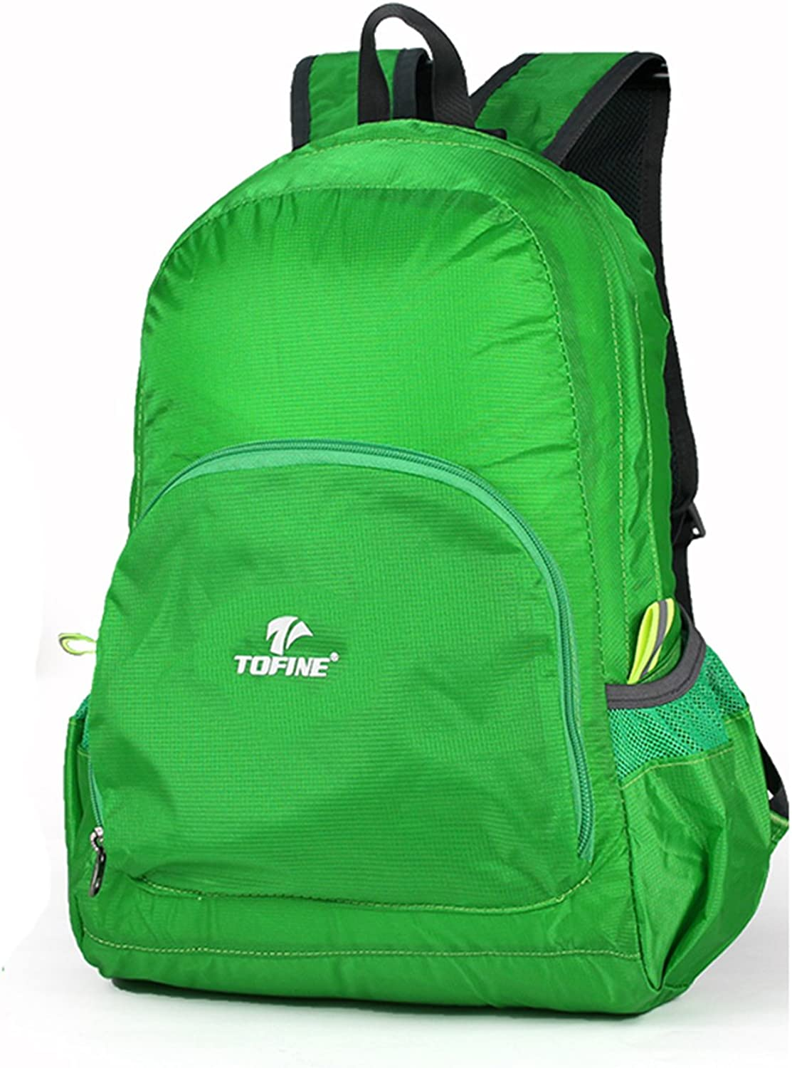 TOFINE Traveling Bag Lightweight Backpack Daypack for Hiking Camping Water Resistant Green 25 Liter
