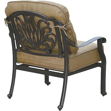 Amazon.com: K & B Patio ld777 – 21 Elizabeth Club silla con ...