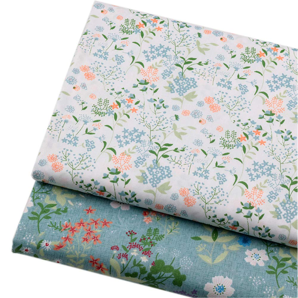 Vintage Floral Fat Quarters Fabric Bundles, Precut Quilting Fabric for Sewing,18''x22'' by Hanjunzhao (Image #7)