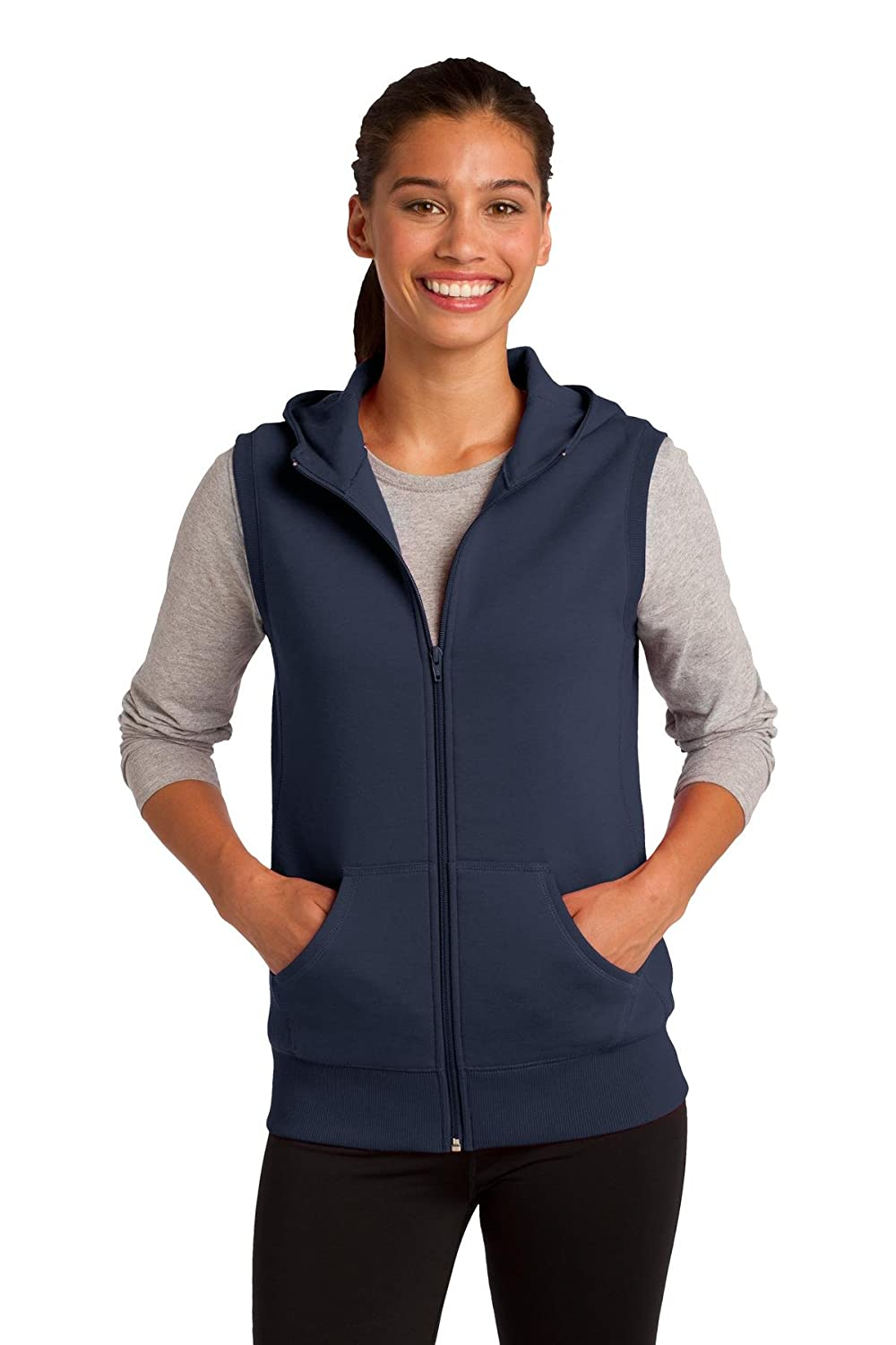 Sport-Tek Women's Hooded Fleece Vest 753262