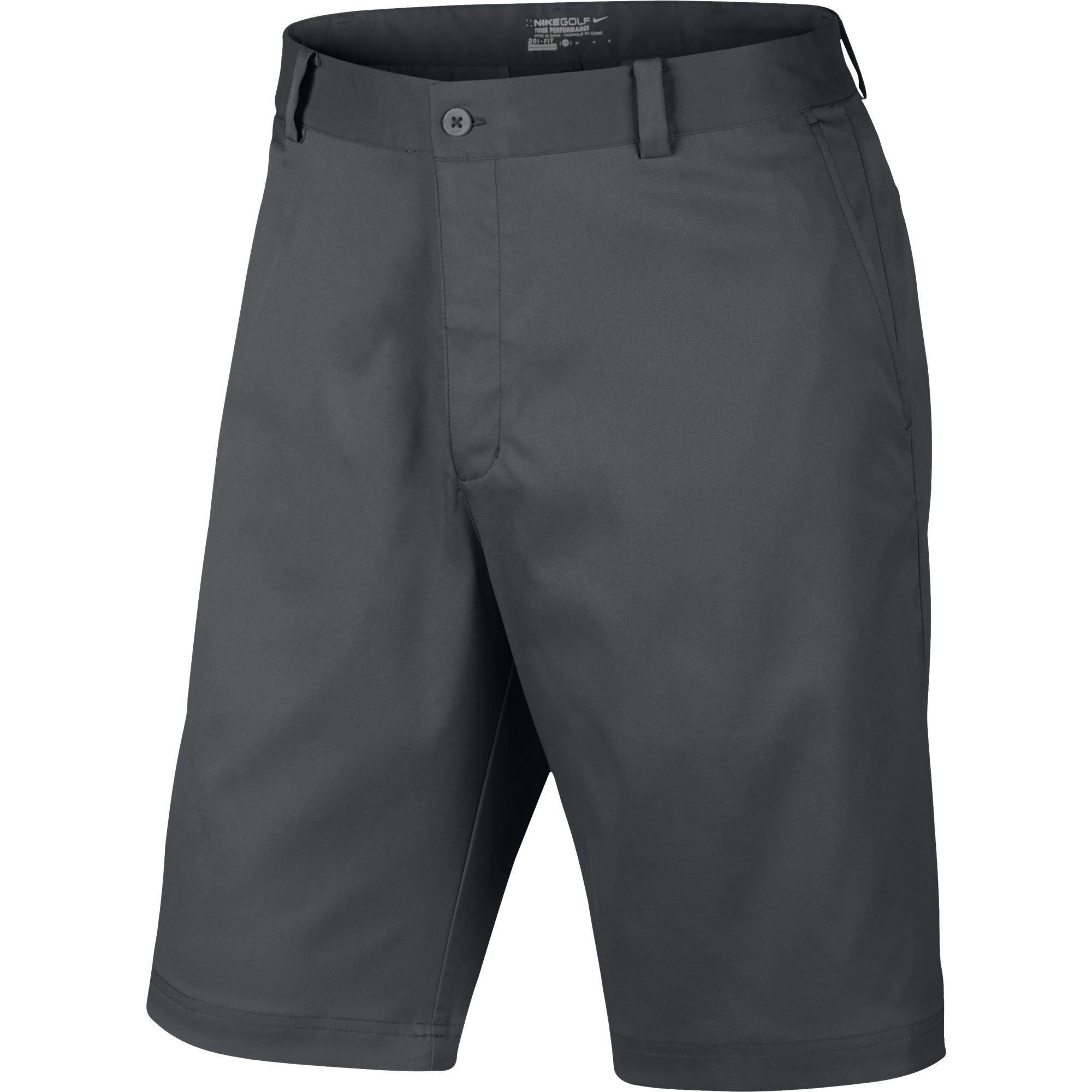 Nike Men's Flat Front Golf Shorts, Dark Grey, 36