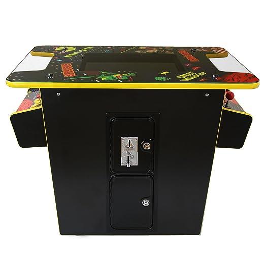MonsterShop - Maquina Arcade en Estilo Mesa de Coctel con 60 Videojuegos 64cm x 73cm x 93cm: Amazon.es: Hogar