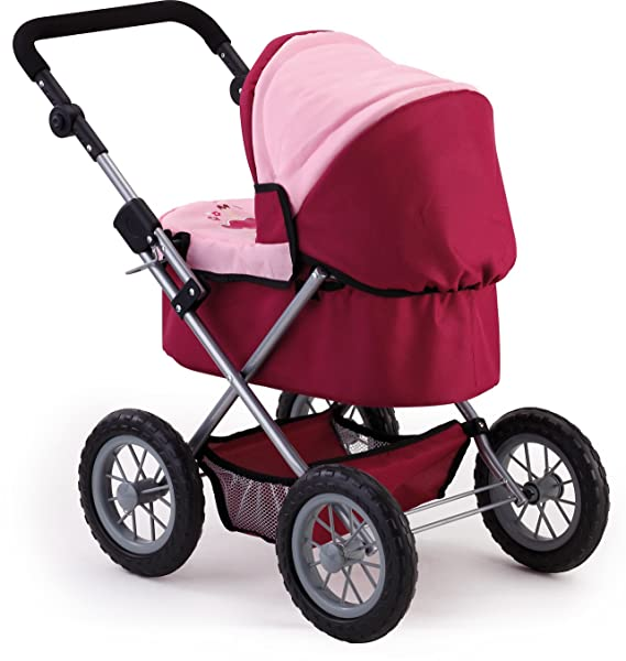 Amazon.com: Bayer Design 13014 Trendy Doll Pram, Red and Pink: Toys ...