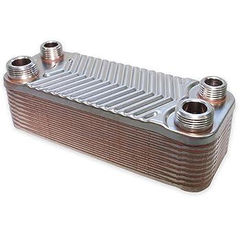Hrale Intercambiador calor térmico acero inoxidable 20 placas Termocambiador placas máx. 44 kW: Amazon.es: Bricolaje y herramientas