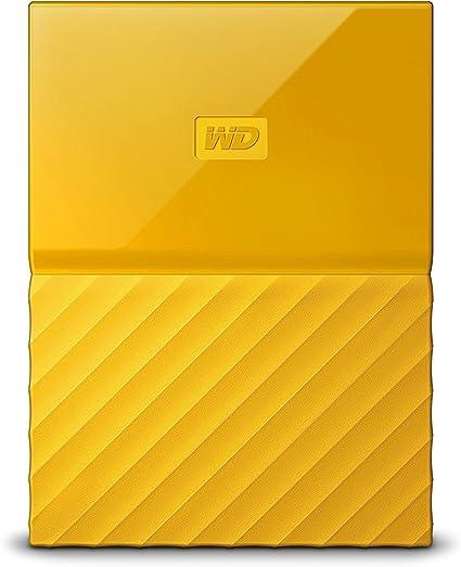 WD HDD ポータブル ハードディスク 2TB USB3.0 イエロー 暗号化 パスワード保護 ( PS4 / PS4pro 対応) 3年保証 My Passport WDBYFT0020BYL-WESN