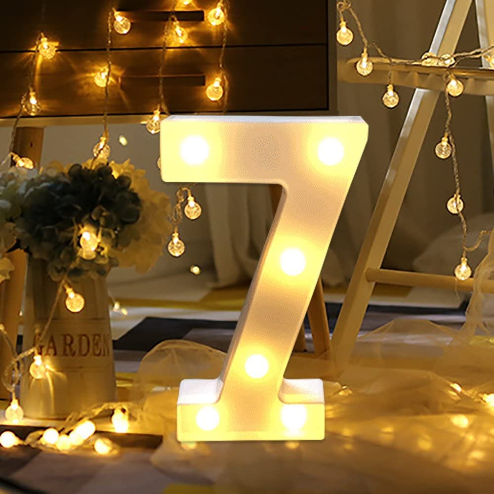 P LEEDY Light Letters 26 English Letter Light LED Shape Decorative Night Alphabet Letter Lights Letters Creative Plastic Lamp Decor for Home Party Bar Wedding Festival Decorative