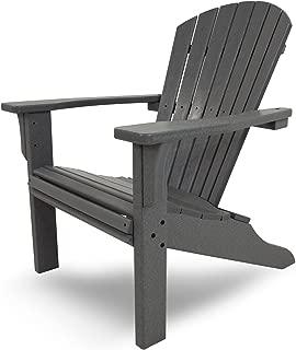 product image for POLYWOOD SH22GY Seashell Adirondack Chair, Slate Grey