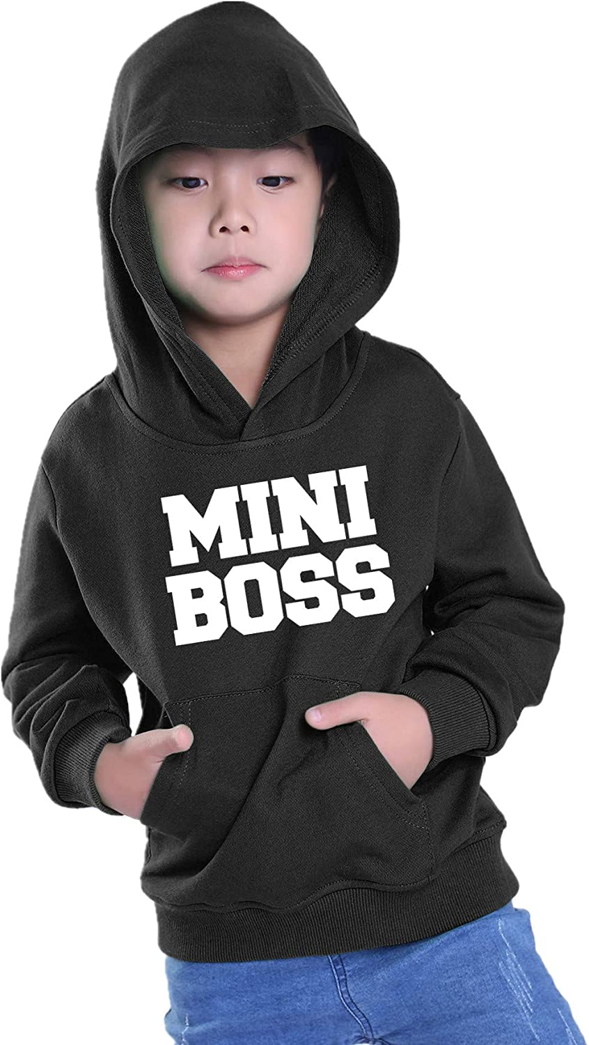 PINJIA 0-6T Mini Boss Hoodie Toddler Long Sleeve Pullover Sweatshirt with Pocket for Baby Boy Girl HMAX01