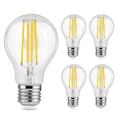 Lampade A Led A Filamento.Albrillo Lampadina Led E27 6w Filamento Equivalenti A 70w Lampadine A Incandescenza 800lm Luce Bianca Calda 2700k Confezione Da 5 Pezzi