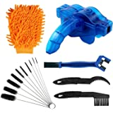 rorecay Bike Chain Cleaner Set: Bicycle Tools Kits Set with Sprocket Scraper Repair Machine Brushes Mitt Clean Gear for…