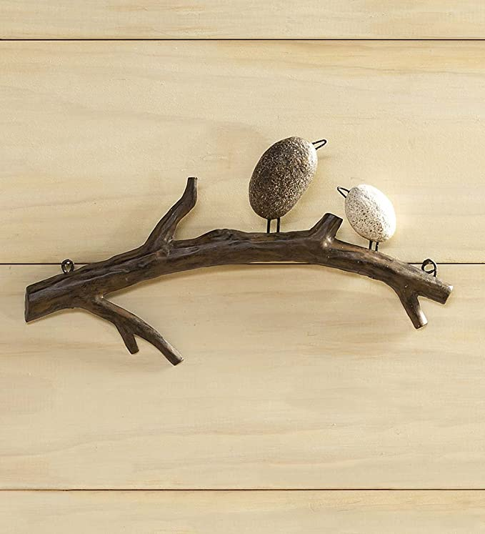 Amazon.com: Cuatro Arte de Pared Aves en una Rama: Home ...