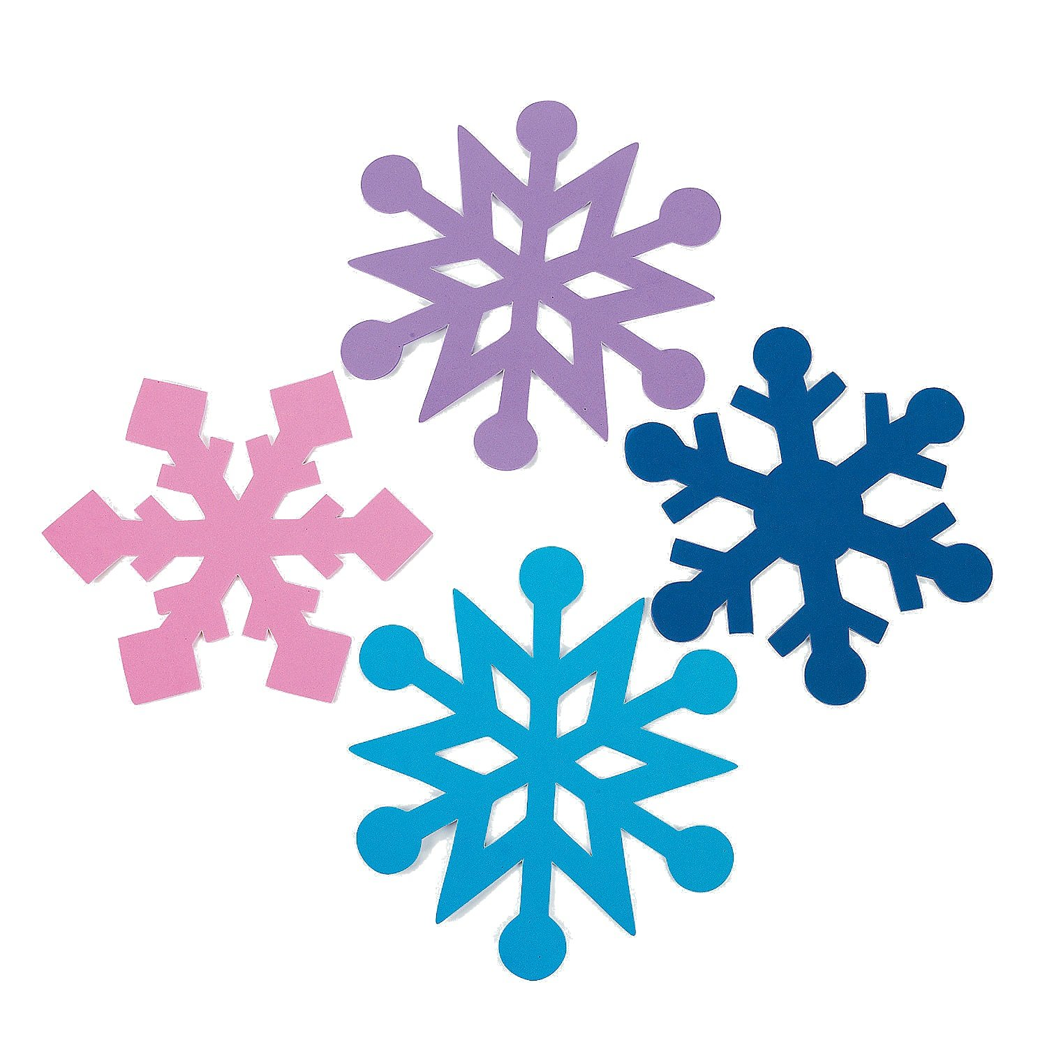 amazon com foam jumbo snowflakes 24 pc winter craft foam shapes
