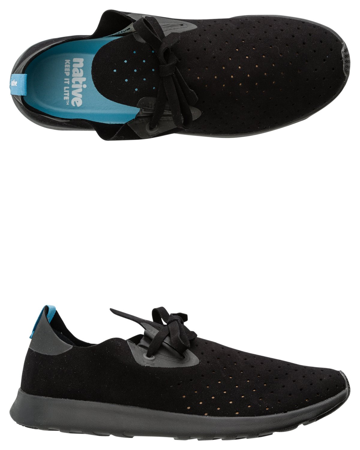 Native Unisex Apollo Moc Fashion Sneaker. B01831YG48 12.5 B(M) US Women / 10.5 D(M) US Men|Jiffy Blk/Jiffy Blk
