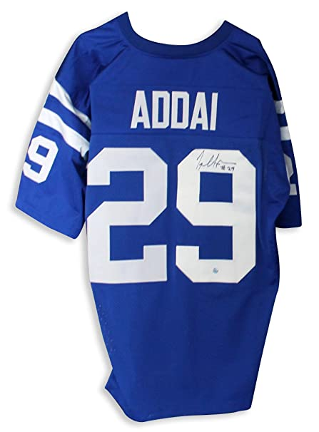 4bd2d24b3f8 Autographed Joseph Addai Jersey - Blue - Autographed NFL Jerseys at ...