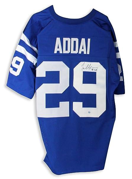 c7941be81cb Autographed Joseph Addai Jersey - Blue - Autographed NFL Jerseys at ...