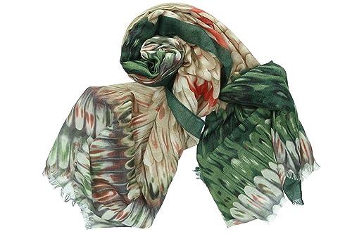 Sciarpa donna GIANMARCO VENTURI verde stola multicolore in box confezione