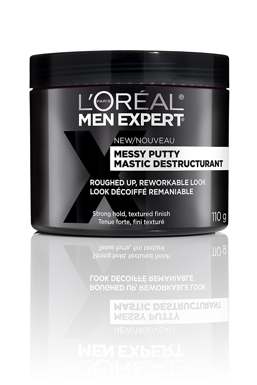 L'Oreal Paris Men Expert Messy Putty, Hair Paste For Men, Strong Hold, 110 G L' Oreal Paris